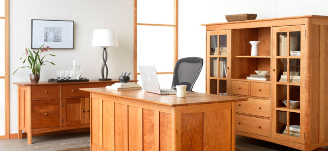 American Made Shaker Style Home Office Furniture Crafted in