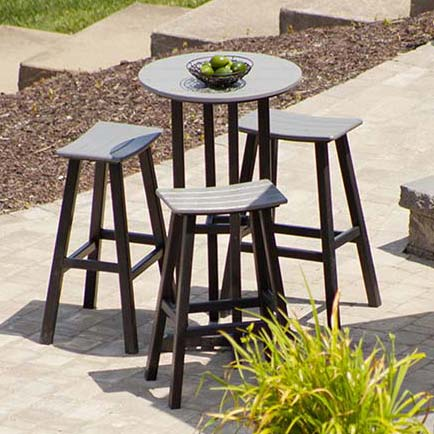 Saddle Seat Outdoor Barstools