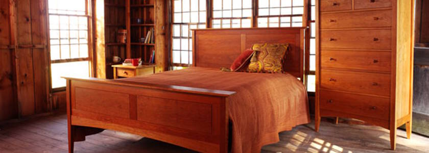 Solid Cherry Bedroom Furniture Natural Handcrafted American Furniture Org