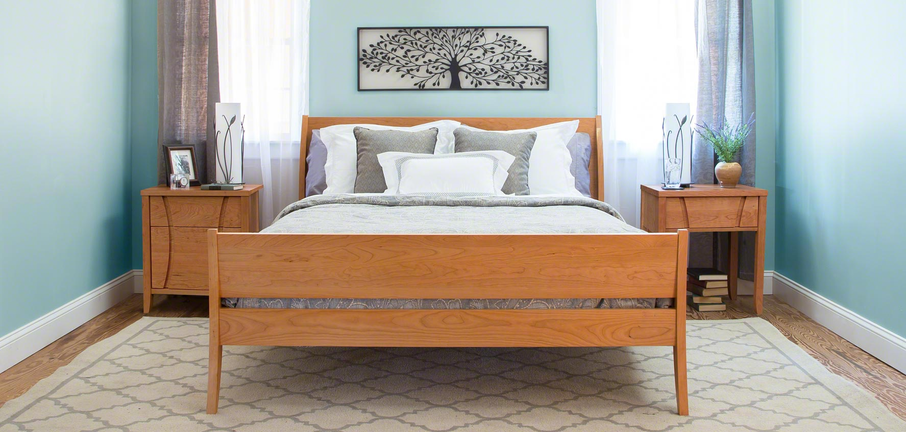 Design Modern Sleigh Bed introducing vermonts modern sleigh bed vermont woods studios the holland is handmade in vermont