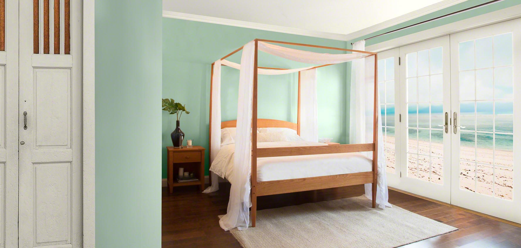 Bedroom Furniture Green solid wood beds - vermont woods studios