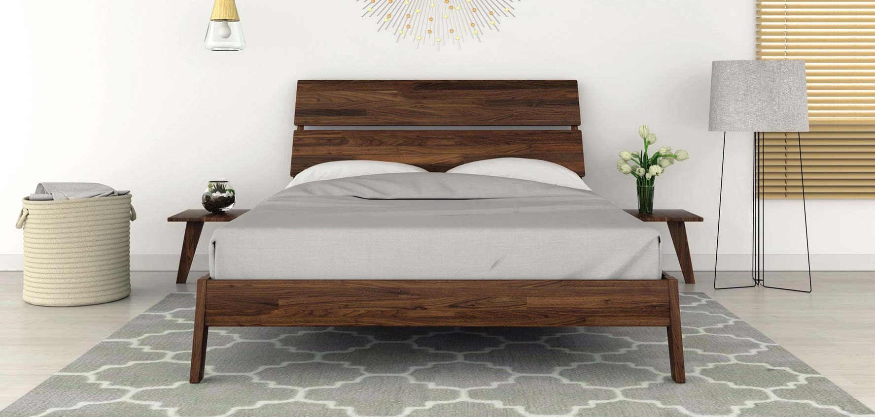 Lynn Bed by Copeland Furniture with an eco friendly GreenGuard Certified lacquer finish