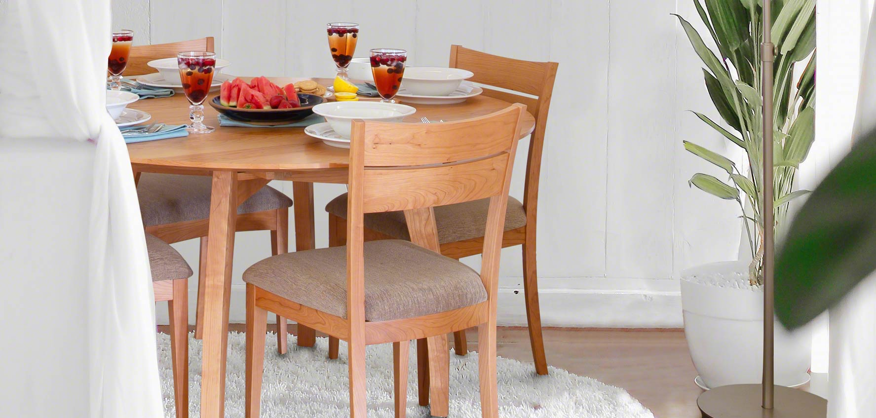 Handcrafted Wood Dining Chairs - Vermont Woods Studios