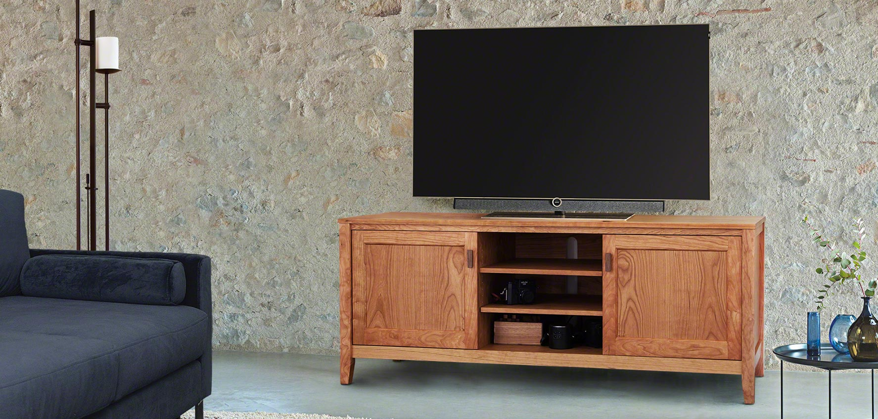 Handcrafted Wood Tv Stands Media Consoles Vermont Woods Studios