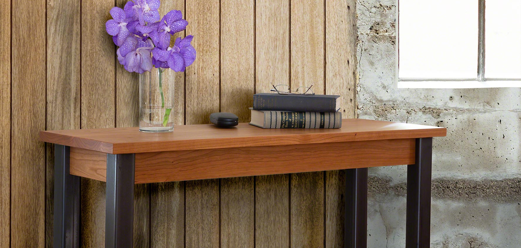 promo code 76135 a13bc Handcrafted Wood Sofa & Console Tables - Vermont Woods Studios