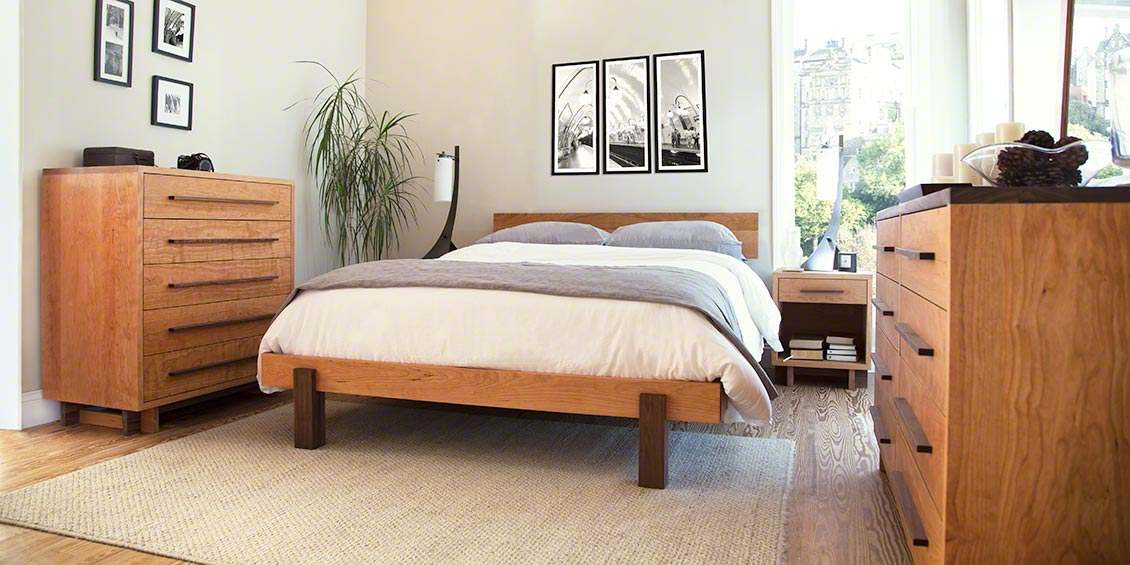 cherry bedroom furniture real solid wood top quality