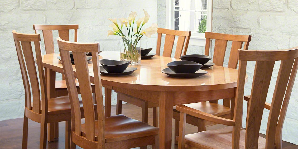 vermont shaker custom dining table oval - Oval Dining Room