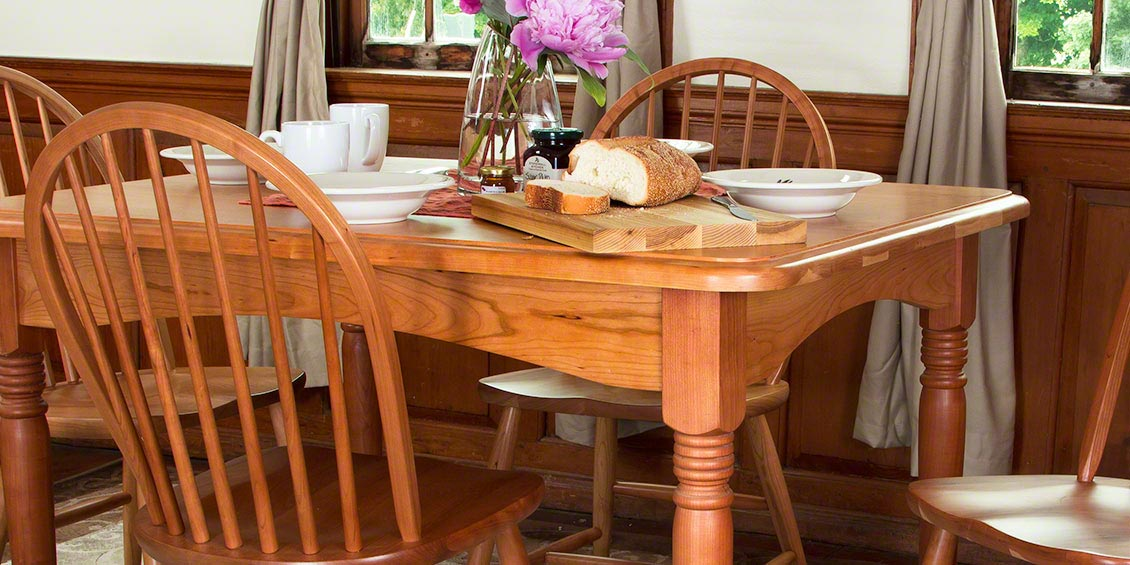 All Natural Cherry Wood Dining Tables