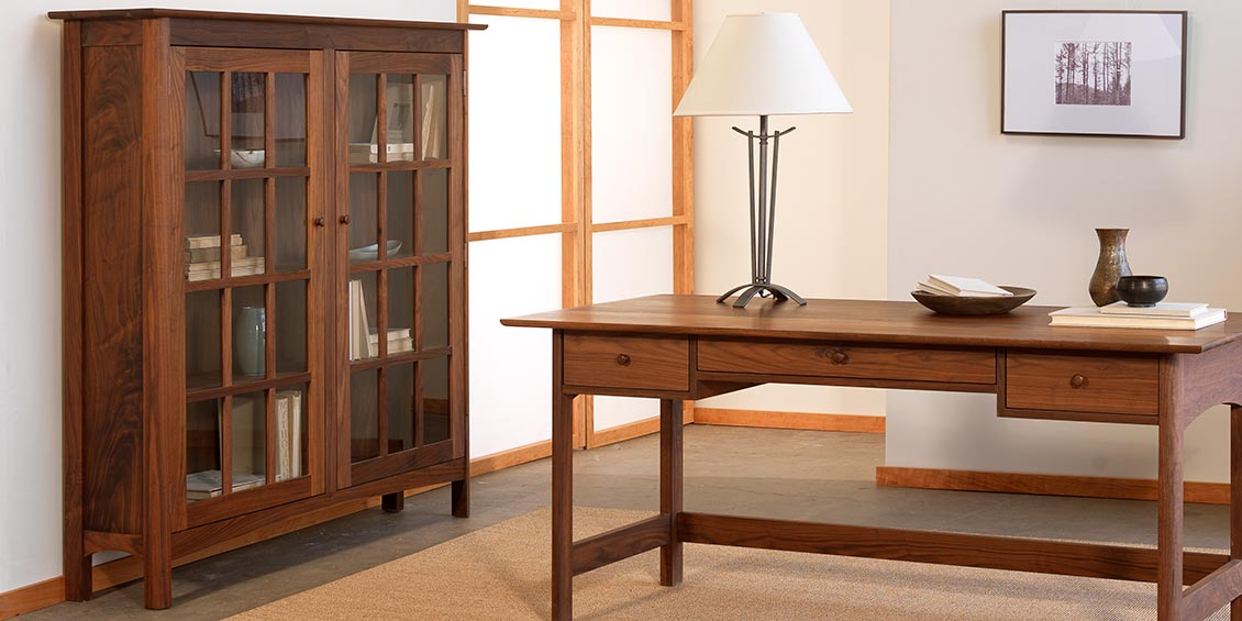 Real Solid Wood Bookcases Quality Cherry Walnut Maple Oak Doors