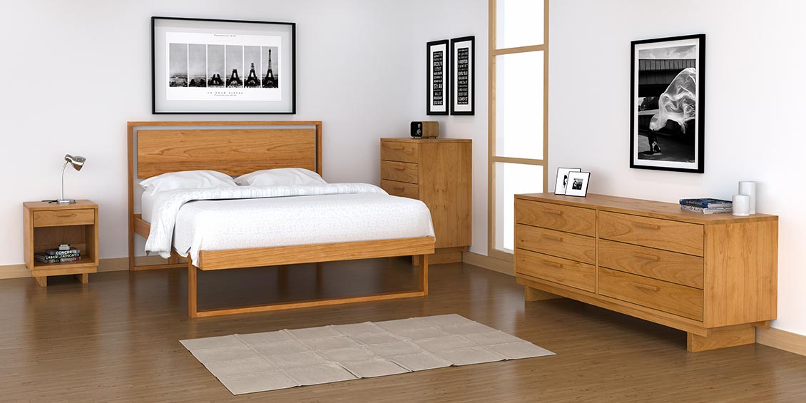 Loft Bedroom Furniture Collection Solid Natural Wood Made In Vermont