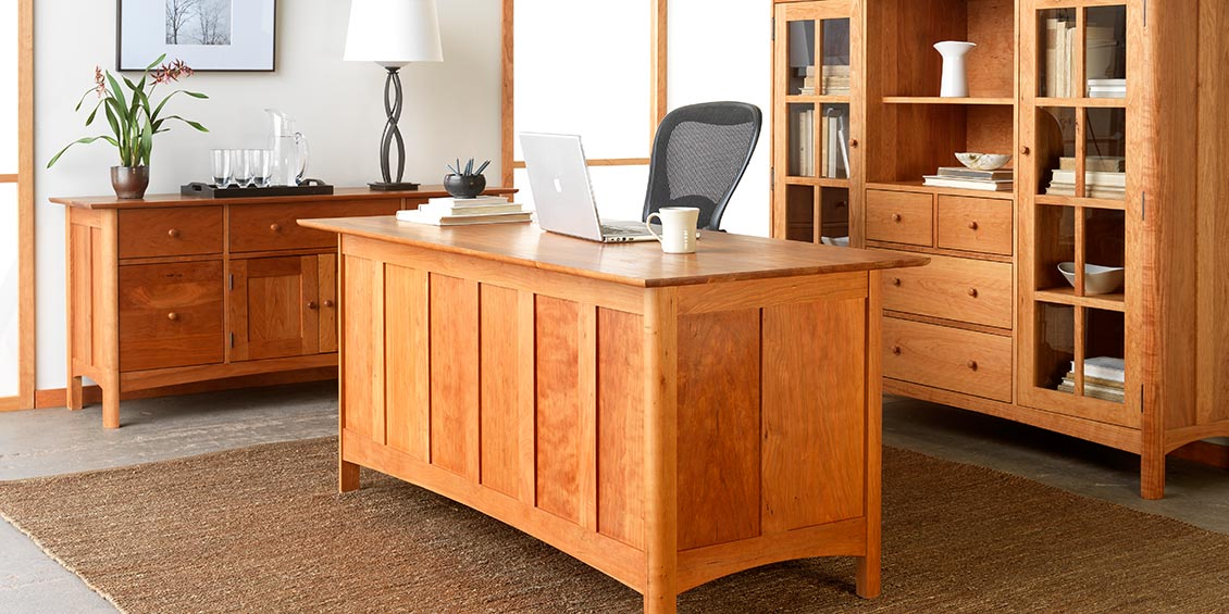 Solid wood office furniture quality real cherry walnut usa made