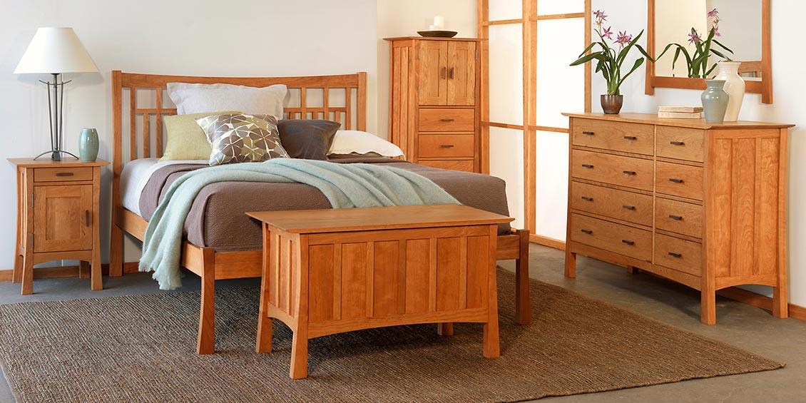 mission style bedroom furniture in cherry trend home