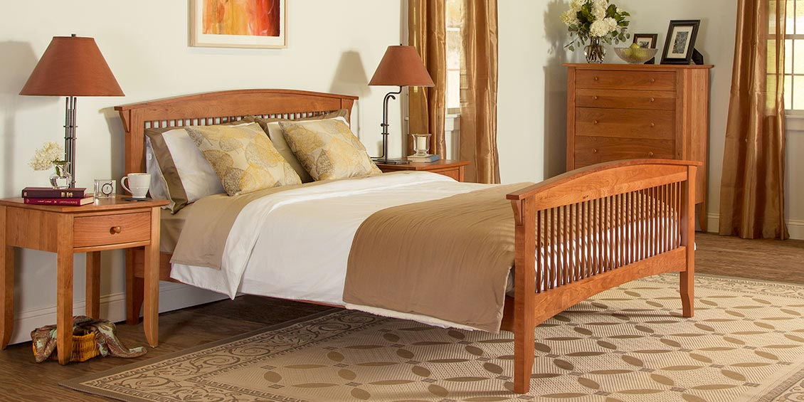 Solid Wood Beds Natural Cherry Walnut HandMade American Quality