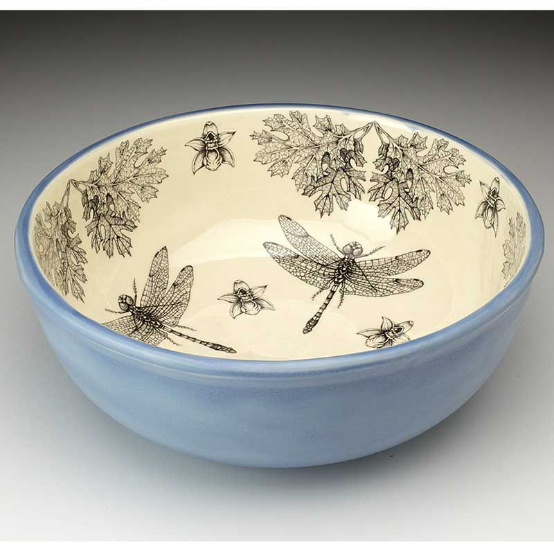 Large Deep Bowl - Dragonfly