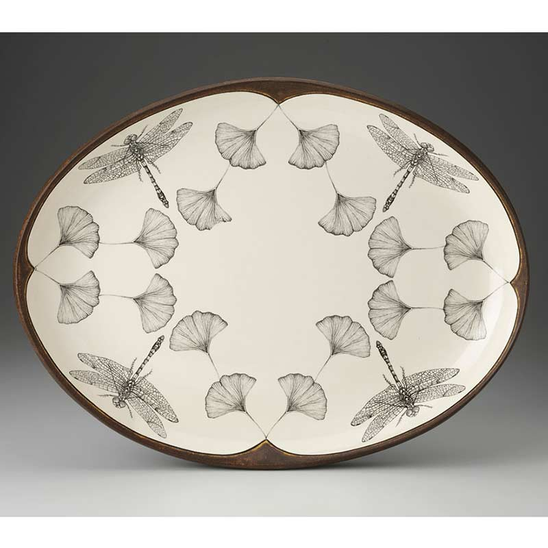 Large Oval Platter - Dragonfly