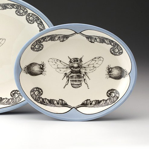 Small Oval Platter - Honey Bee