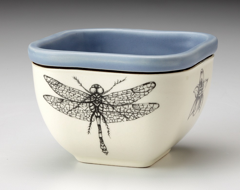 Small Square Bowl - Dragonfly