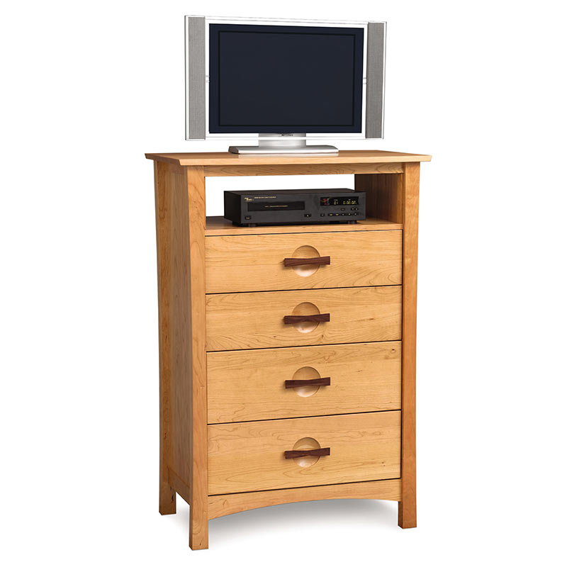 Copeland berkeley drawer cherry wood tv stand made in