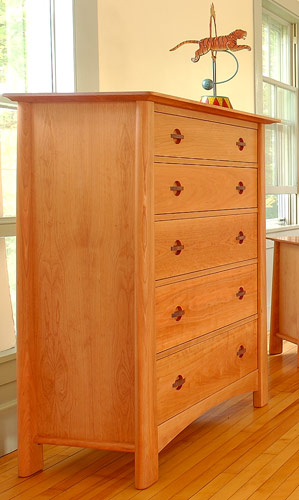 Cherry Moon Wide 5 Drawer Chest
