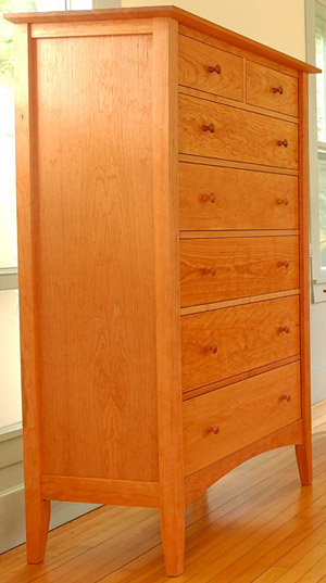 American Shaker 6 Drawer Chest Handmade Of Natural Solid