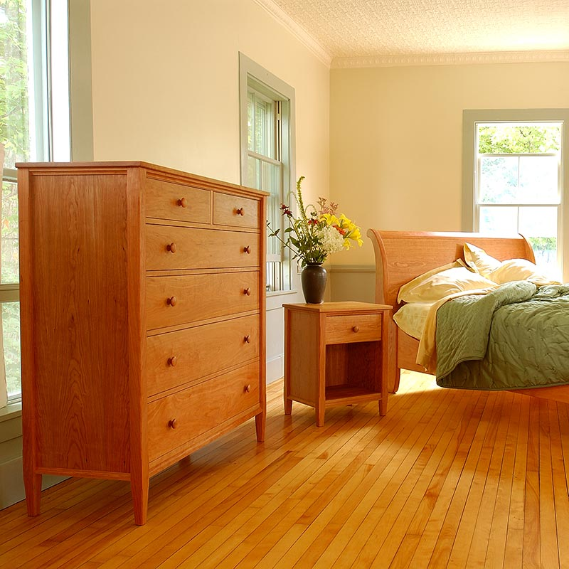 Vermont shaker chest of drawers six drawers bedroom furniture for White shaker bedroom furniture