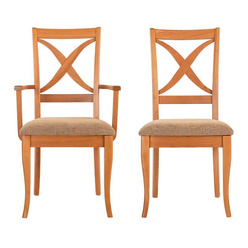 In Stock Cherry Wood Nantucket Dining Chair Bundle Luxury Cherry Furniture