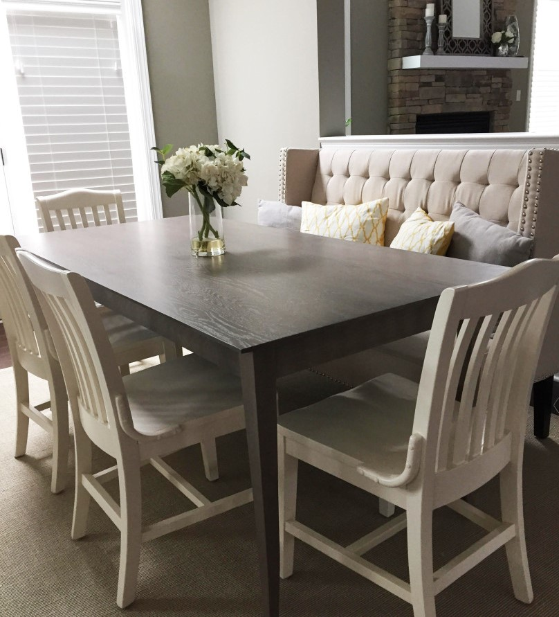 Stained Oak Shaker Dining Table