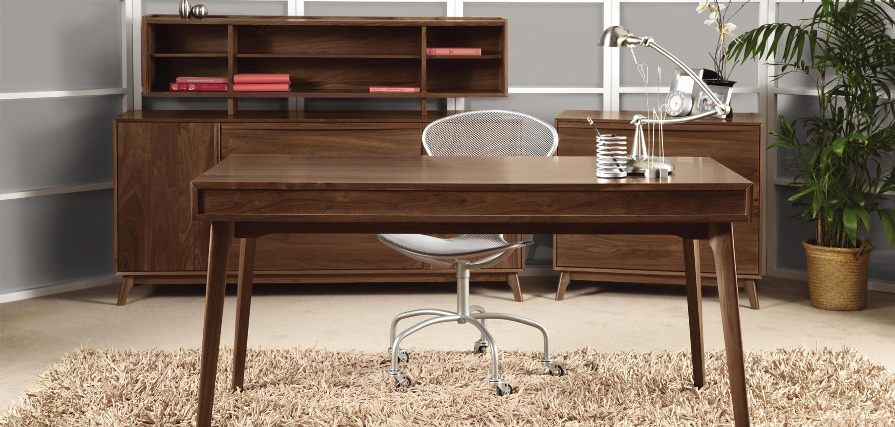 Modern Walnut Office Furniture