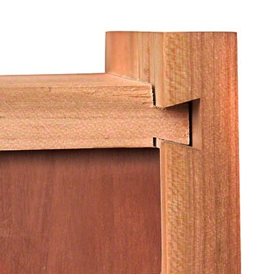 Sliding dovetail joint on a drawer box
