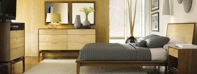 Copeland Two-Tone Maple and Walnut Wood Furniture