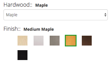 Maple Furniture Wood Stains