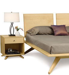 Astrid Mid-Century Modern Maple Bedroom Furniture