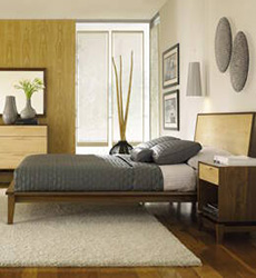 Soho Mid-Century Modern Maple Bedroom Furniture