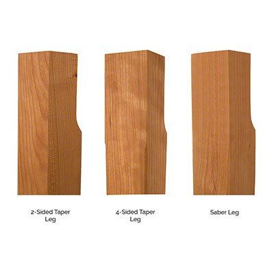 Maple Corner Woodworks Leg Profiles 2