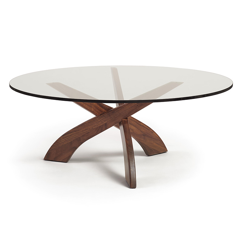 Entwine Walnut Glass Top Coffee Table By Copeland Furniture Vermont Woods Studios