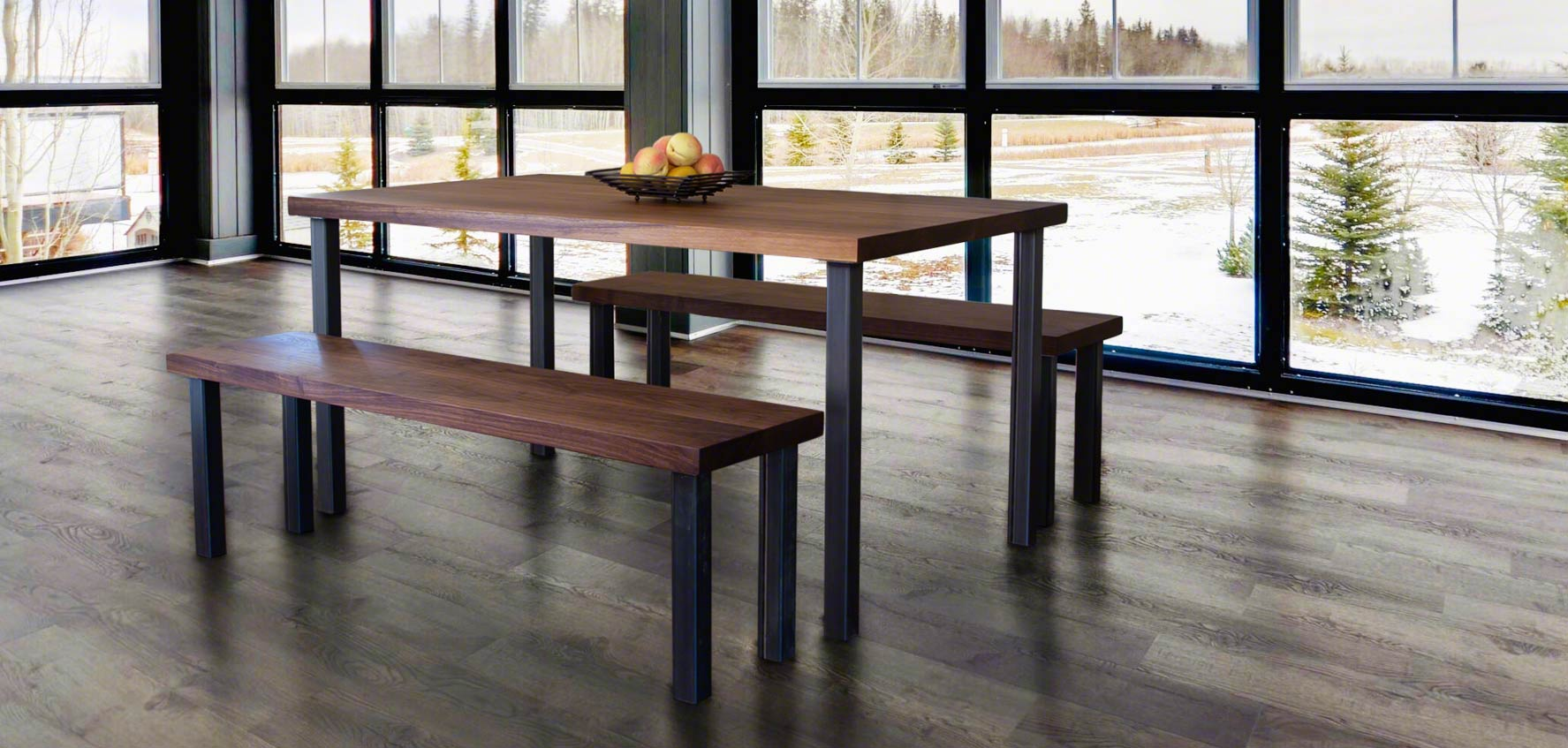 Modern Industrial Dining Set