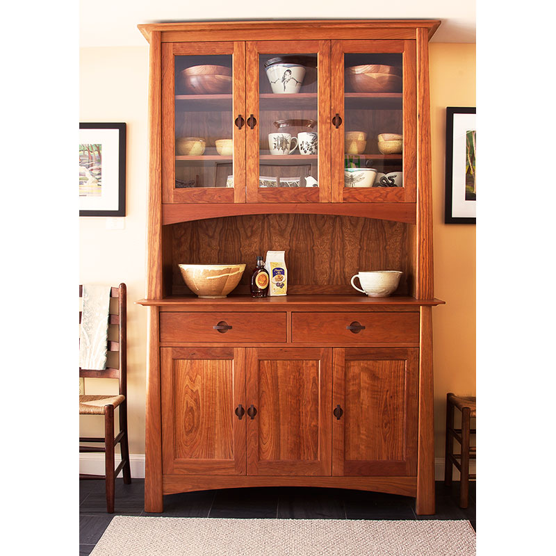 Cherry Wood China Cabinet and Sideboard