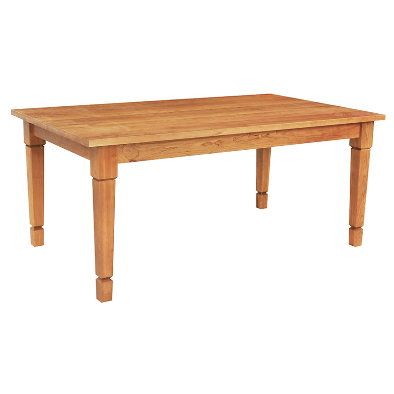 Solid Wood Craftsman Style Dining Table Crafted in Vermont with Natural Hardwoods