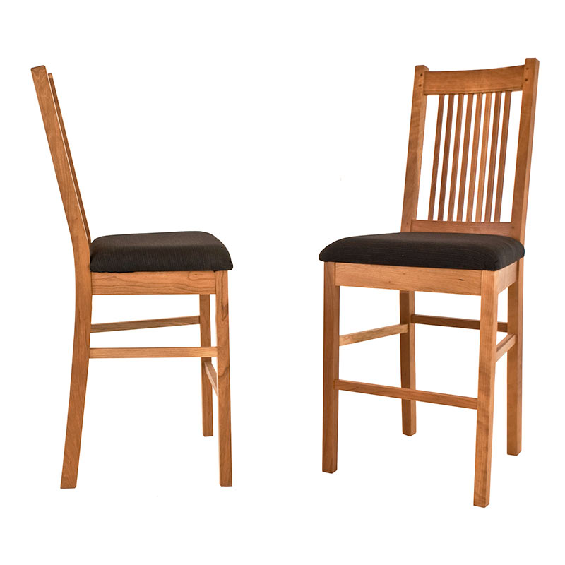 Wood mission style counter stool counter height chair usa made