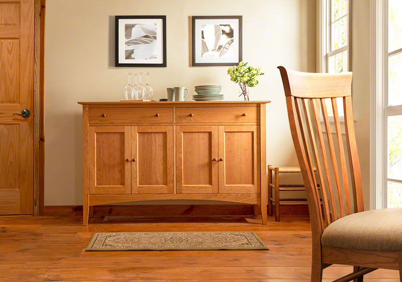 American Shaker Style Large Sideboard Buffet Solid Wood