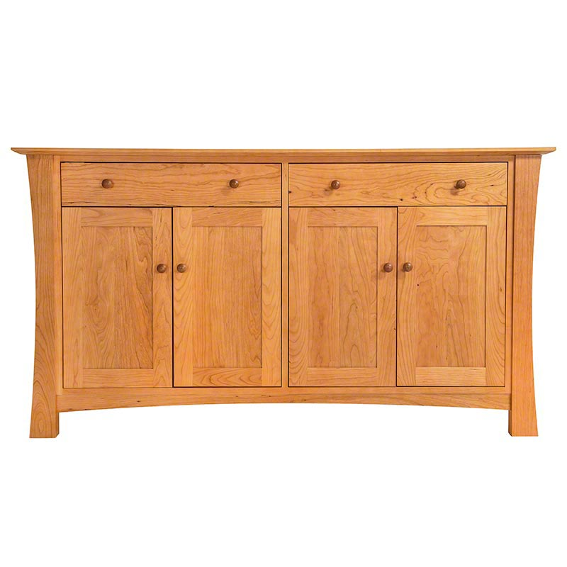 Vermont made solid wood buffet natural cherry sideboard