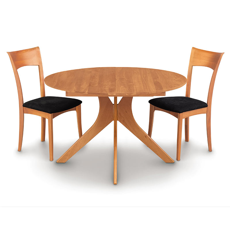 Audrey Cherry Round Extension Dining Table