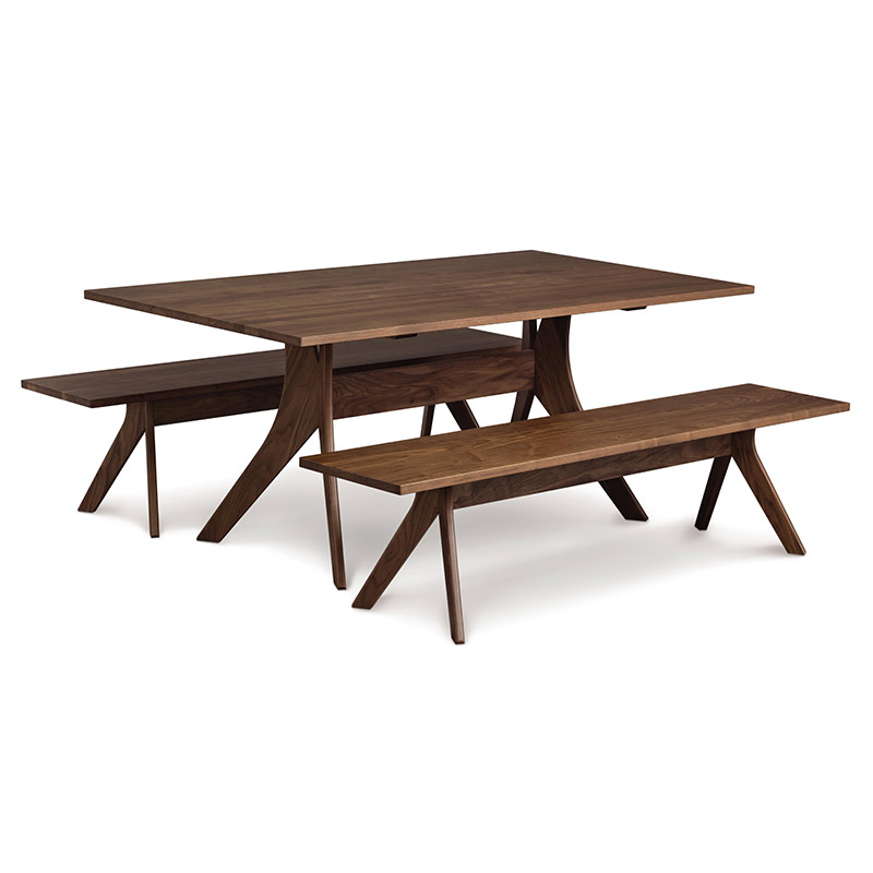 copeland audrey walnut solid top dining table american made modern contemporary. Black Bedroom Furniture Sets. Home Design Ideas