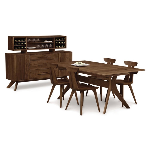 Copeland Audrey Walnut Solid Top Dining Table  American Made  Modern ...