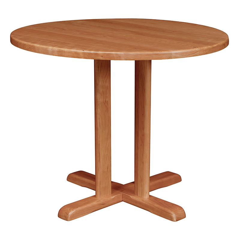 36h round counter height bistro table solid cherry maple oak or