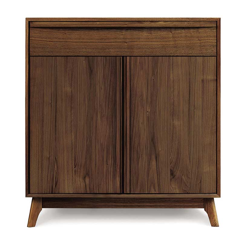 Catalina 2 Door, 1 Drawer Walnut Buffet