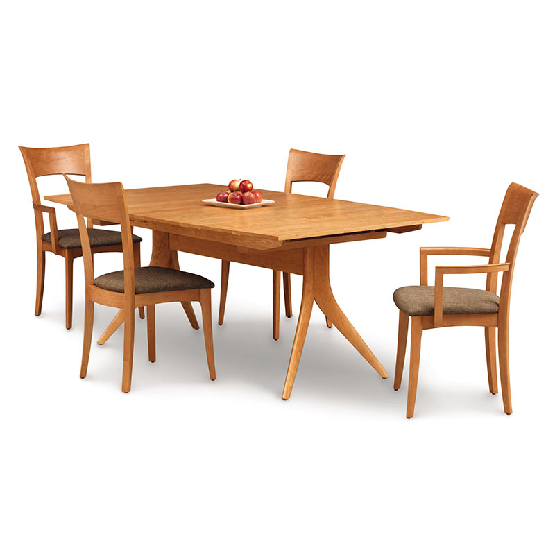 copeland catalina cherry trestle extension dining tabl american made. Black Bedroom Furniture Sets. Home Design Ideas
