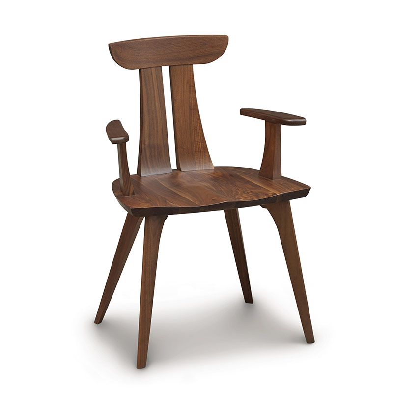 Estelle Walnut Chair. Estelle Sculpted Wooden Dining Chairs   High End   American Made