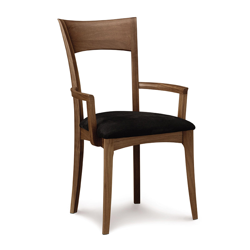 ingrid dining chairs walnut wood american made mid