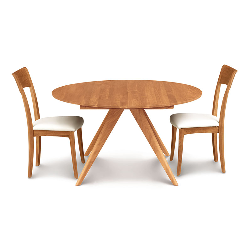 Copeland Catalina Round Cherry Extension Dining Table Solid Wood